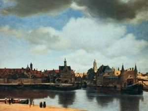 View of Delft, Netherlands, after the Fire, C1658 by Johannes Vermeer