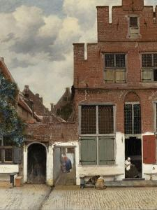 View of Houses in Delft, known as 'The Little Street', C.1658 by Johannes Vermeer