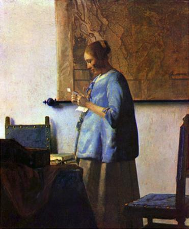 Woman in Blue Reading