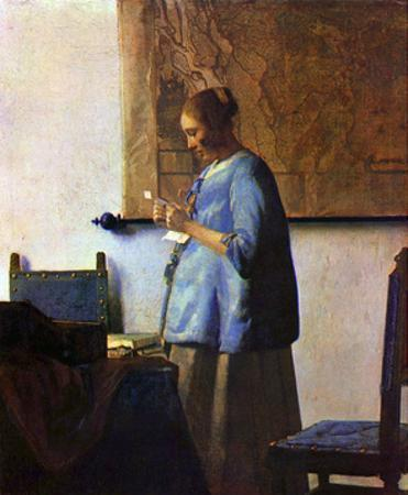 Woman in Blue Reading by Johannes Vermeer
