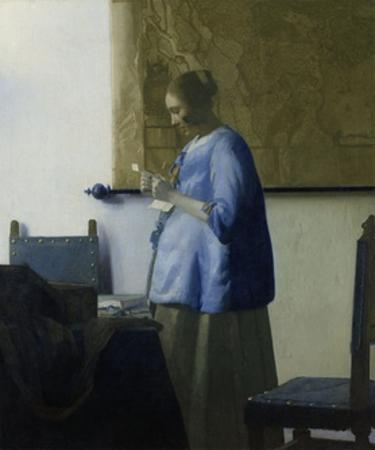 Woman Reading a Letter, 1663 by Johannes Vermeer