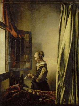 Woman Reading a Letter at an Open Window
