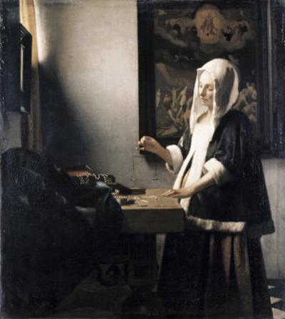 Woman Weighing Gold by Johannes Vermeer