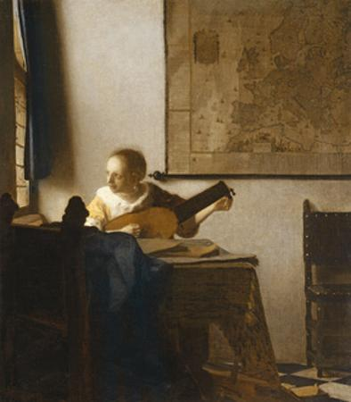 Woman with a Lute, C.1662-1663