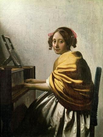 Young Woman at a Virginal