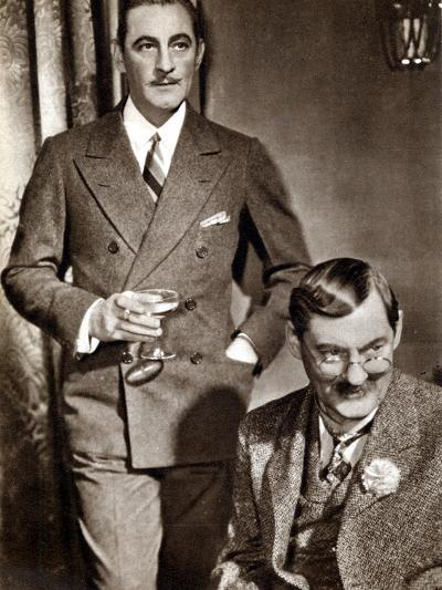 John (1882-194) and Lionel (1878-195) Barrymore, American Stage and Screen Actors--Photographic Print