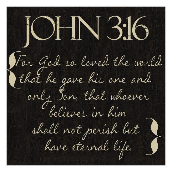 John 3-16-Taylor Greene-Art Print