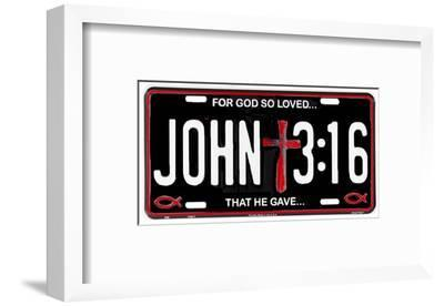 John 3:16--Framed Tin Sign