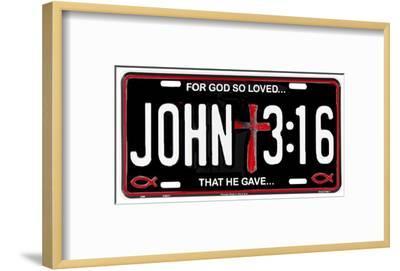 John 3:16--Framed Tin Sign