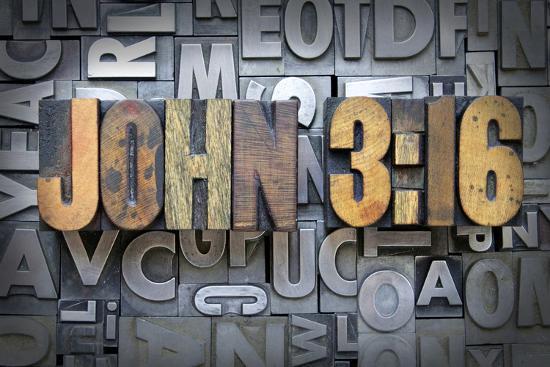 John 3:16-enterlinedesign-Photographic Print