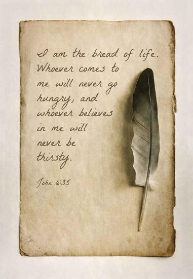 John 6:35 I am the Bread of Life (Sepia)-Inspire Me-Art Print