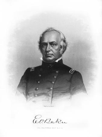 Edward Dickinson Baker, American Politician, Lawyer, and Military Leader
