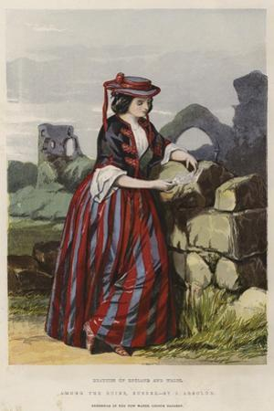 Beauties of England and Wales, Among the Ruins, Sussex by John Absolon
