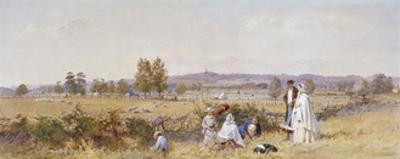 Fields at the Back of Holloway Prison, Islington, London, 1859 by John Absolon