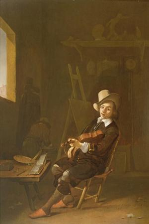 Self Portrait of the Artist Playing a Violin by John Absolon