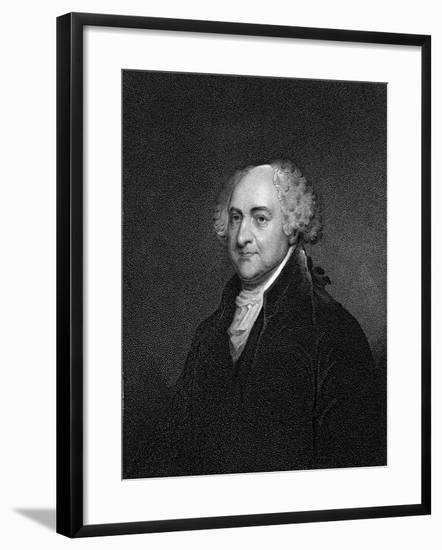 John Adams-James Barton Longacre-Framed Giclee Print