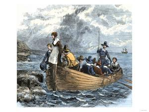 John Alden and Mary Chilton Landing at Plymouth from the Mayflower, December 1620