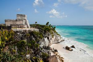 El Castillo at Tulum, Yucatan, Mexico, North America by John Alexander