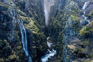 Glymur Waterfall, Iceland, Polar Regions by John Alexander