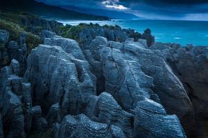 Punakaiki, Pancake Rocks, West Coast, North Island, New Zealand, Pacific by John Alexander