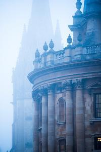 Radcliffe Camera and St. Mary's Church in the Mist, Oxford, Oxfordshire, England, United Kingdom by John Alexander