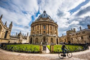 Radcliffe Camera with Cyclist, Oxford, Oxfordshire, England, United Kingdom, Europe by John Alexander