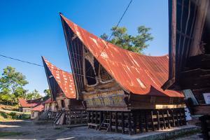 Traditional Batak House in Lake Toba, Sumatra, Indonesia, Southeast Asia by John Alexander