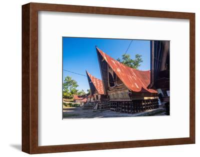Traditional Batak House in Lake Toba, Sumatra, Indonesia, Southeast Asia