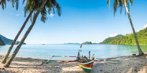Traditional Fishing Boat in Sungai Pinang, Sumatra, Indonesia, Southeast Asia by John Alexander