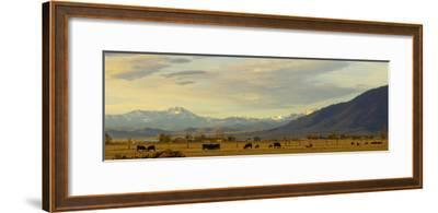 Late Afternoon Light Bathes a Majestic View of the Carson Valley in Nevada