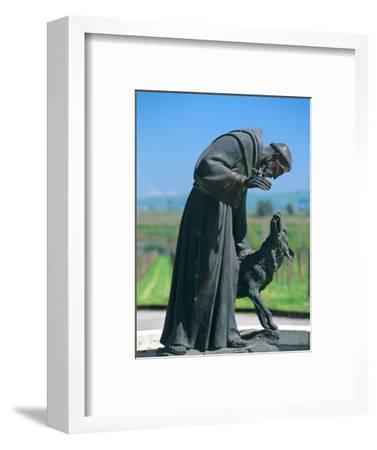 Statue of St. Francis of Assisi at the Viansa Winery, Sonoma County, California, USA