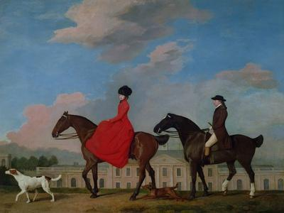 George Stubbs Horse Art on Canvas John /& Sophia Musters Riding at Colwick Hall