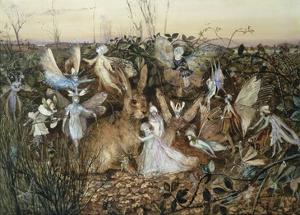 A Rabbit Among the Fairies by John Anster Fitzgerald