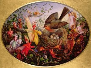 Cock Robin Defending His Nest by John Anster Fitzgerald