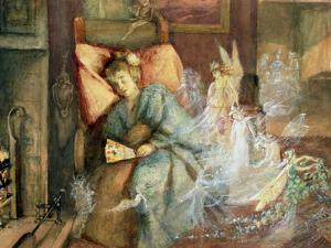 Dreaming (W/C and Bodycolour on Paper) by John Anster Fitzgerald