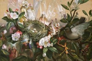 Fairies Round a Bird's Nest, the Distressed Mother by John Anster Fitzgerald
