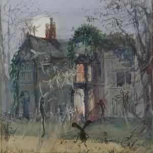 The Old Hall, Fairies by the Moonlight by John Anster Fitzgerald