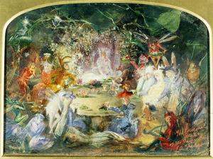 The Original Sketch for the Fairy's Banquet by John Anster Fitzgerald