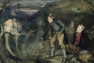 The Wake (W/C on Paper) by John Anster Fitzgerald