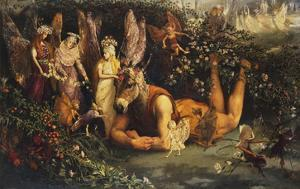 Titania and Bottom: Scene from a Midsummer-Night's Dream by John Anster Fitzgerald