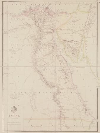Map of Egypt, 1832