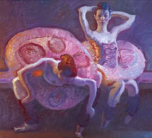 Seated Dancers in Rose by John Asaro