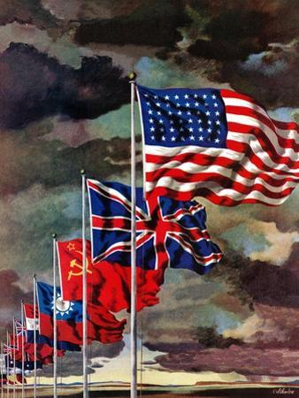 """""""Allied Forces Flags,"""" July 3, 1943"""