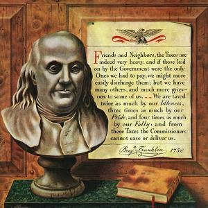 """Benjamin Franklin, 1947,"" January 18, 1947 by John Atherton"