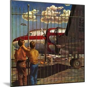 """Boys at Airport,"" March 30, 1946 by John Atherton"