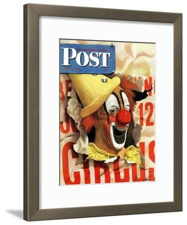 """Circus Clown and Poster,"" Saturday Evening Post Cover, July 8, 1944"