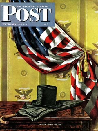 """""""Commemorating Lincoln's Birthday,"""" Saturday Evening Post Cover, February 12, 1944"""