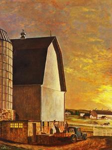"""""""Dairy Farm,"""" July 19, 1947 by John Atherton"""