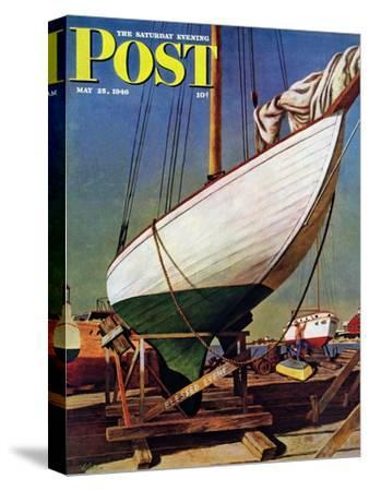 """Dry Dock,"" Saturday Evening Post Cover, May 25, 1946"