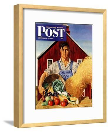 """Fall Bounty,"" Saturday Evening Post Cover, September 25, 1943"